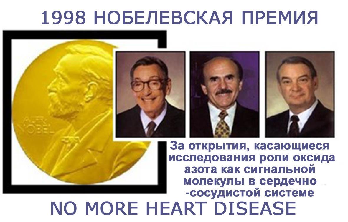 Нобелевская премия за открытие роли оксида азота в организме